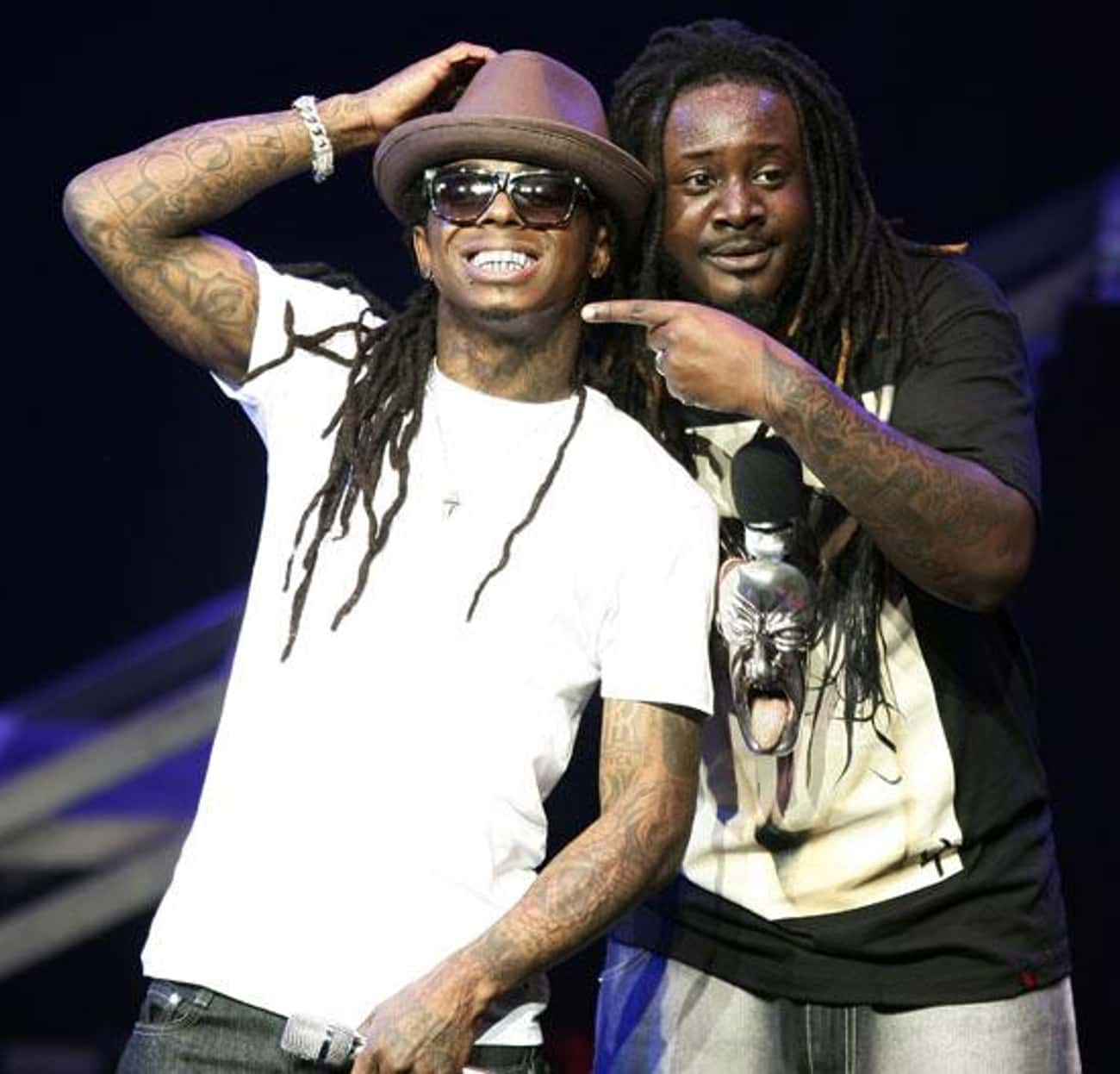 T-Pain is listed (or ranked) 2 on the list Famous Friends of Lil Wayne