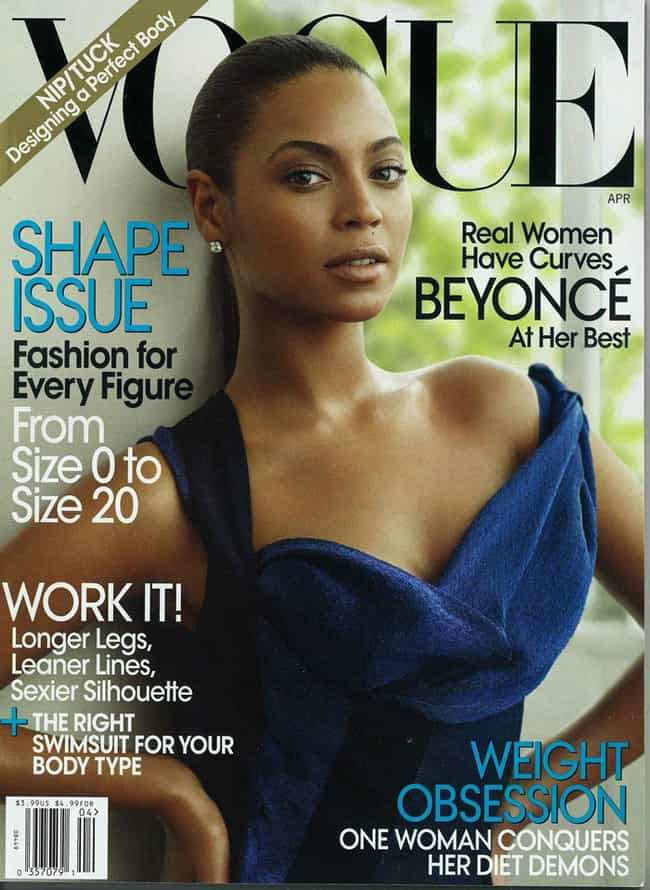 Beyonce Knowles is listed (or ranked) 7 on the list The Best Vogue Magazine Covers