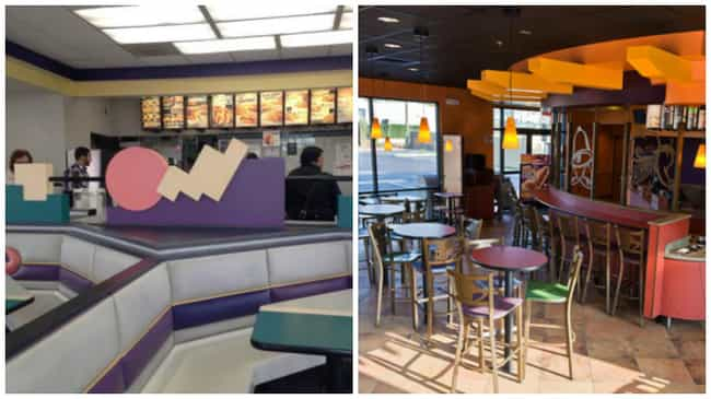 Taco Bell is listed (or ranked) 2 on the list Look: Every Fast Food Restaurant Looked Better in the '90s