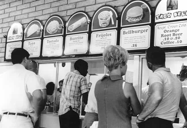 Taco Bell is listed (or ranked) 3 on the list 18 Utterly Fascinating Vintage Fast Food Menus Throughout History