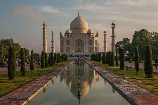 Taj Mahal is listed (or ranked) 4 on the list The Most Beautiful Buildings in the World
