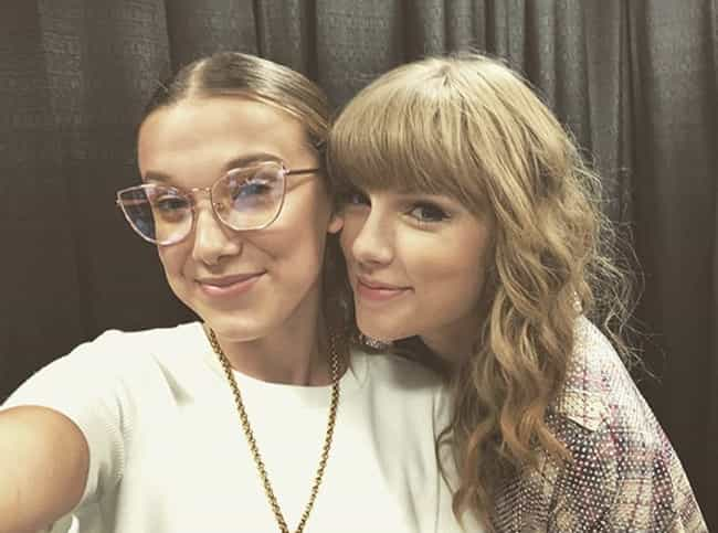 Taylor Swift is listed (or ranked) 1 on the list Famous Friends Of Millie Bobby Brown