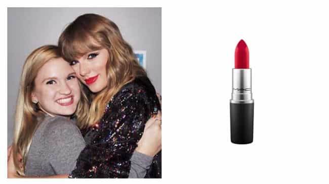 Taylor Swift is listed (or ranked) 4 on the list Lipsticks Your Favorite Celebrities Are Obsessed With