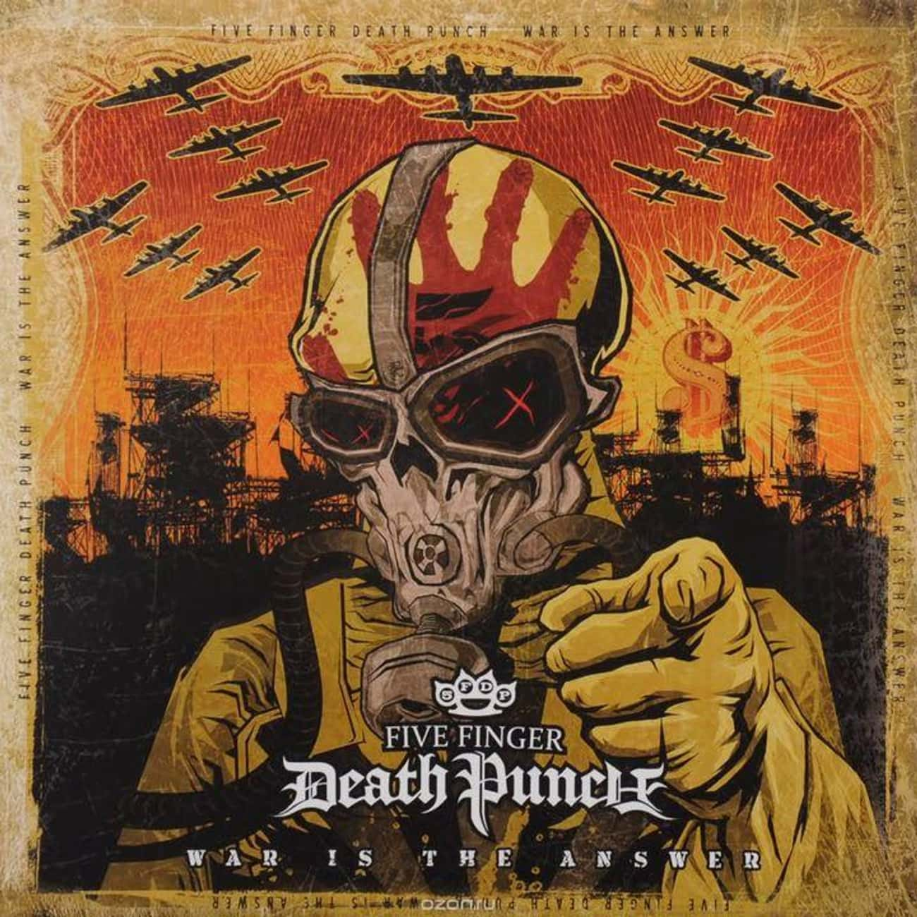 War Is the Answer is listed (or ranked) 2 on the list The Best Five Finger Death Punch Albums, Ranked