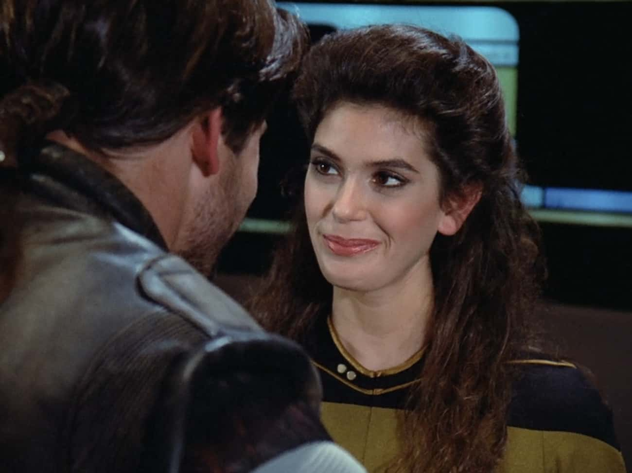 Teri Hatcher In 'The Outrageou is listed (or ranked) 3 on the list Famous People You Didn't Know Were On 'Star Trek: The Next Generation'