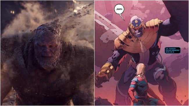 """4. Thanos has the rare distinction of being slain twice in the Marvel Cinematic Universe, and both times in dramatic fashion. In the pages of Marvel Comics, the Mad Titan, however, has met with more deaths. Thanos was resurrected by the Eternals' """"Machine"""" on his own."""