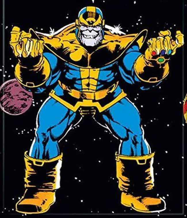 Thanos is listed (or ranked) 4 on the list Characters Whose Real Names You Never Actually Knew