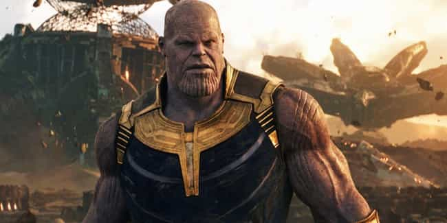 Thanos is listed (or ranked) 4 on the list The Strongest Characters In The MCU, Ranked