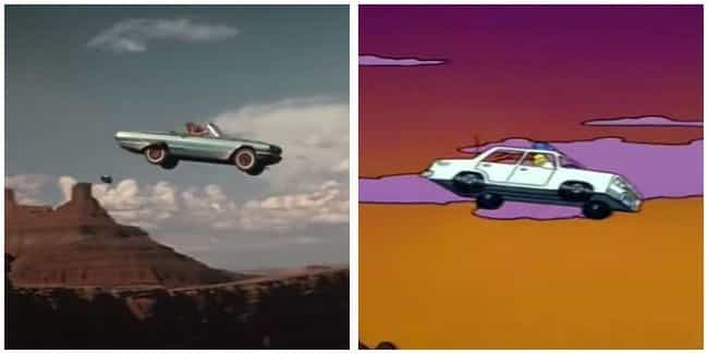 Thelma & Louise is listed (or ranked) 4 on the list 'Simpsons' Movie Parodies You Probably Missed As A Kid, Ranked