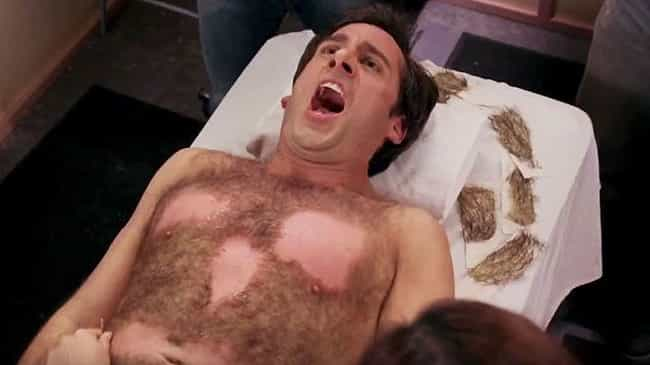 The 40-Year-Old Virgin is listed (or ranked) 3 on the list Classic Movie Moments That Turned Out To Be The Real Thing