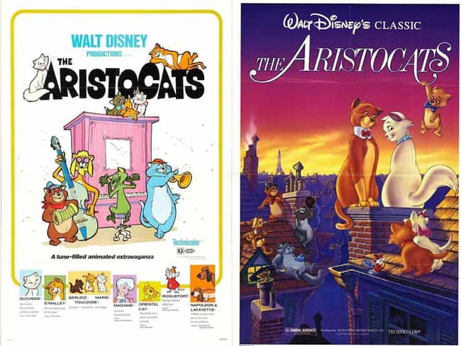 The Aristocats is listed (or ranked) 2 on the list 20 Iconic Original Disney Posters VS. Today's Re-Release Covers
