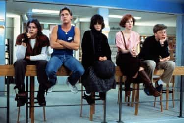 Brian, Andrew, Claire, Allison, And Bender In 'The Breakfast Club'
