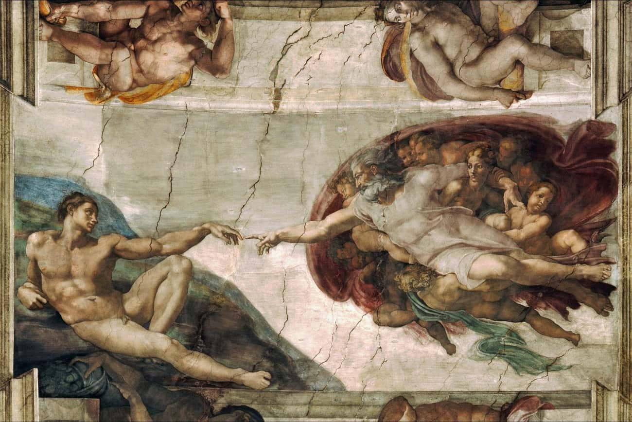 The Creation of Adam is listed (or ranked) 2 on the list The Most Amazing Pieces of Artwork Ever Made