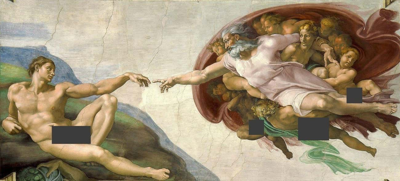 The Creation of Adam is listed (or ranked) 2 on the list The Best Paintings Of All Time