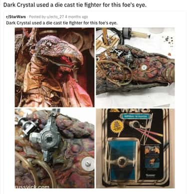 Skeksis Dumpster Diver is listed (or ranked) 2 on the list High-Tech Movie Props That Are Secretly Everyday Objects