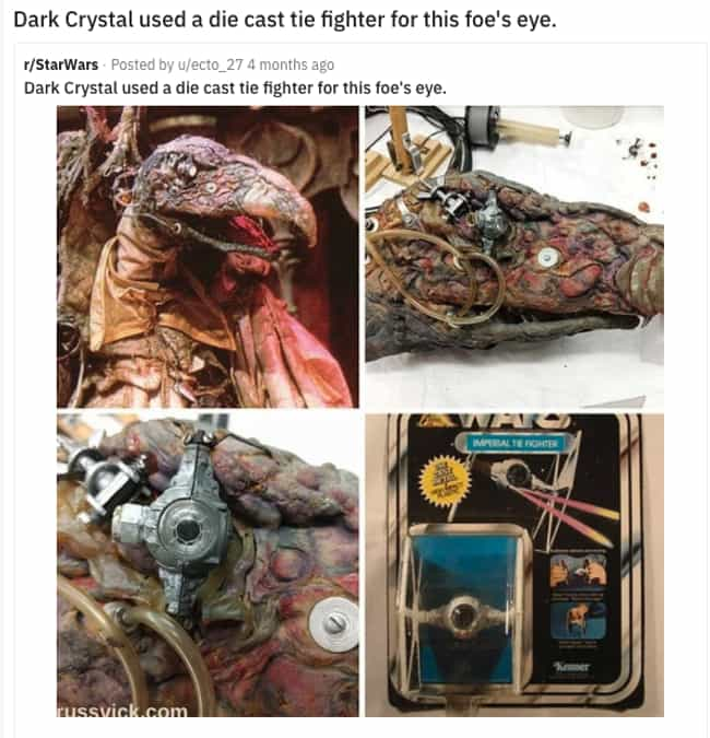 The Dark Crystal is listed (or ranked) 2 on the list High-Tech Movie Props That Are Secretly Everyday Objects