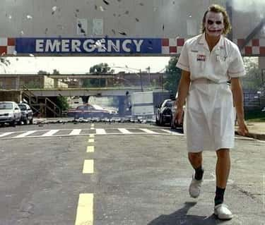 When The Joker Blows Up A Hosp is listed (or ranked) 2 on the list Famous Movie Scenes That Needed Only One Take