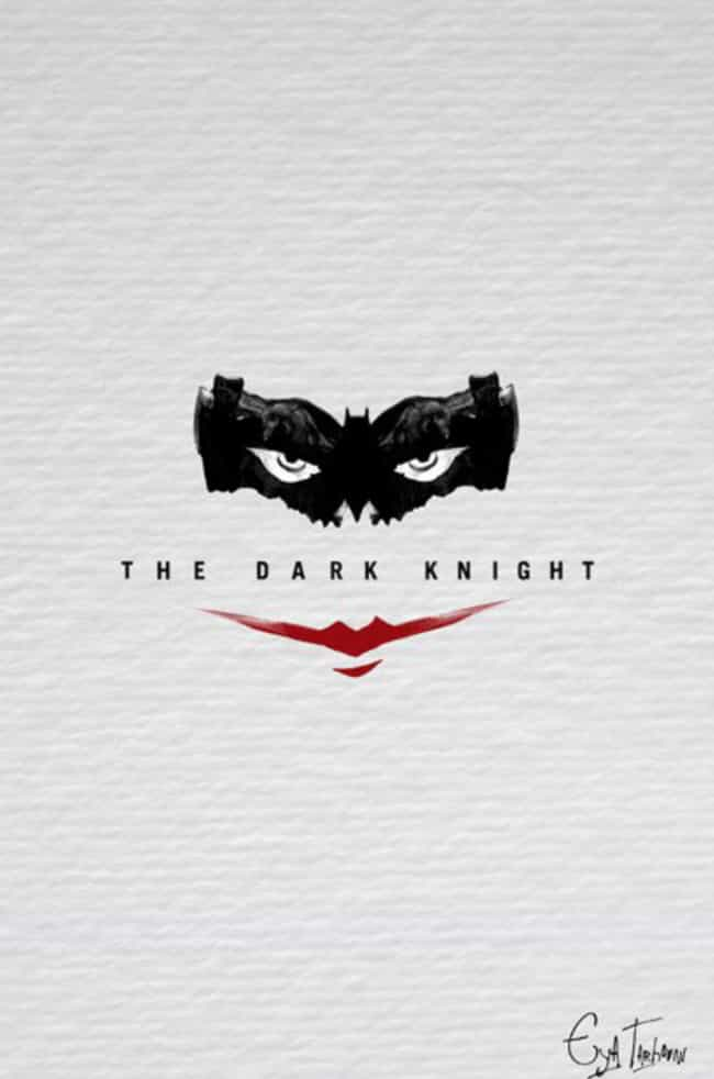 The Dark Knight is listed (or ranked) 3 on the list Minimalist Movie Posters For True Film Nerds