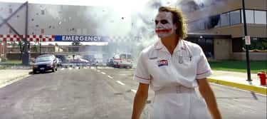 Heath Ledger In 'The Dark Knig is listed (or ranked) 1 on the list The Most Badass Walk-Away-From-Explosion Moments In Film, Ranked