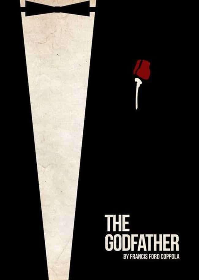 The Godfather is listed (or ranked) 1 on the list Minimalist Movie Posters For True Film Nerds