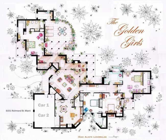 The Golden Girls is listed (or ranked) 1 on the list The Coolest TV Floorplans