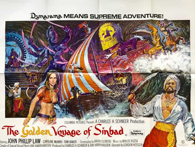 The Golden Voyage of Sin... is listed (or ranked) 3 on the list 14 Movies Tim Burton Has Given His Personal Stamp Of Approval