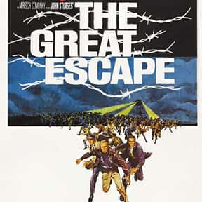 The Great Escape is listed (or ranked) 8 on the list The Greatest World War II Movies of All Time
