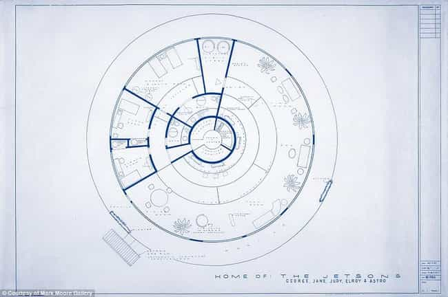 The Jetsons is listed (or ranked) 4 on the list The Coolest TV Floorplans