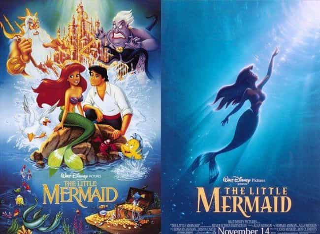 The Little Mermaid is listed (or ranked) 4 on the list 20 Iconic Original Disney Posters VS. Today's Re-Release Covers