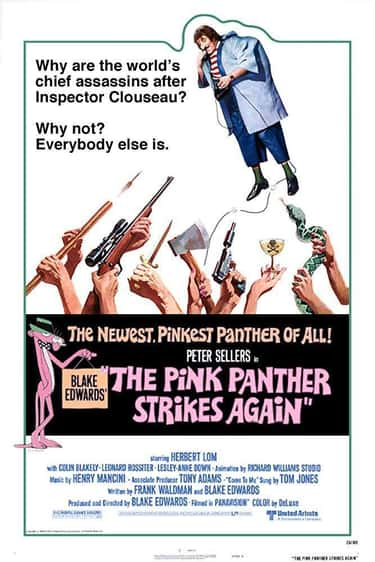 The Pink Panther Strikes Again is listed (or ranked) 1 on the list The Best Movies and Series in the Pink Panther Franchise, Ranked