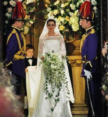 Mia's Dress In 'The Princess D is listed (or ranked) 1 on the list The Most Gorgeous Movie Wedding Dresses, Ranked