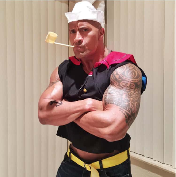 Dwayne Johnson As Popeye
