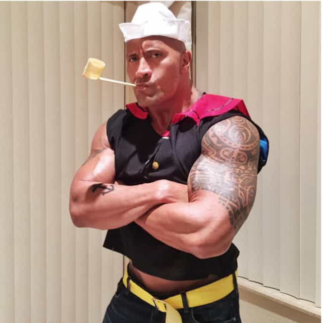 Dwayne Johnson is listed (or ranked) 3 on the list The Greatest Celebrity Halloween Costumes Of All Time