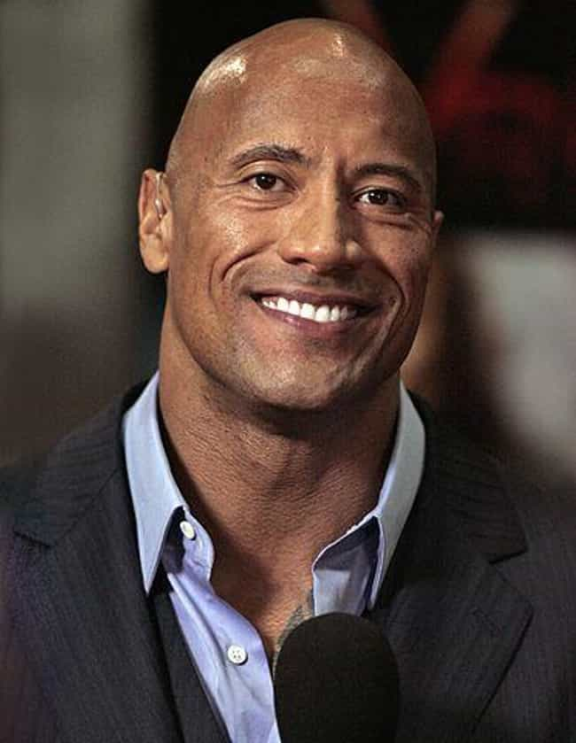 Dwayne Johnson is listed (or ranked) 3 on the list 20 Celebrities Rocking the Bald Look