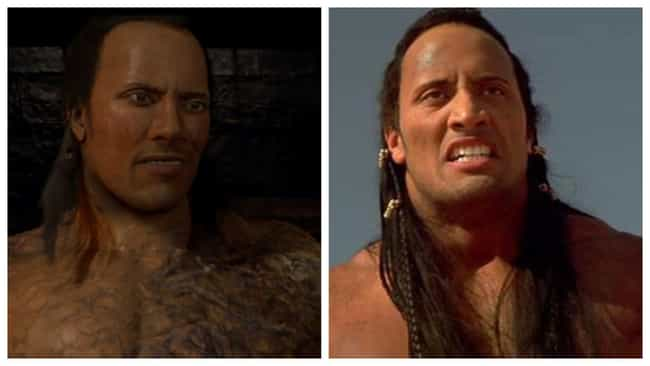 Dwayne Johnson is listed (or ranked) 1 on the list The Rubberiest CGI Re-Creations Of Actors' Faces In Movies