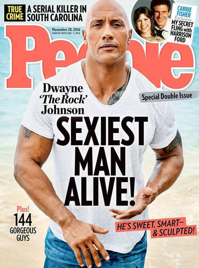 Dwayne Johnson is listed (or ranked) 3 on the list Every Cover of People's Sexiest Man Alive Issue, Ever