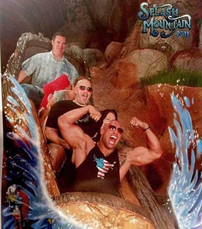 Dwayne Johnson is listed (or ranked) 3 on the list 8 Celebrities Enjoying Splash Mountain