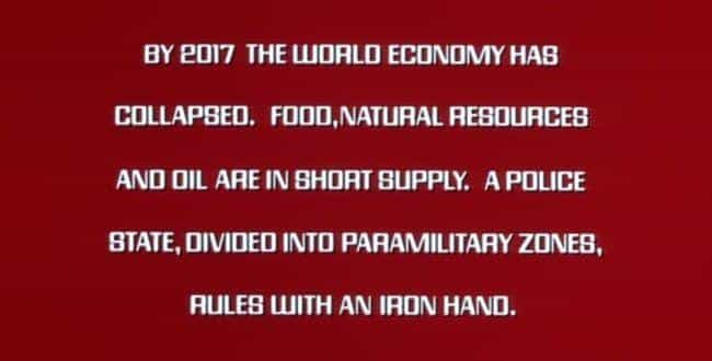 The Running Man is listed (or ranked) 2 on the list This Is What The Year 2019 Should Look Like, According To Science Fiction