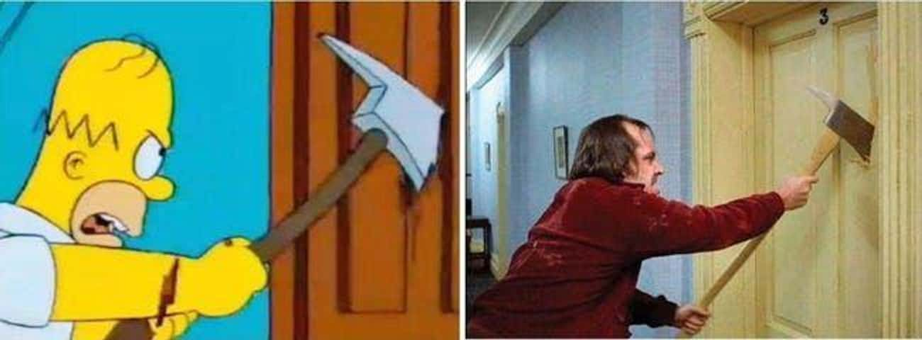 'The Shinning' References 'The Shining' With Homer As Jack Torrance
