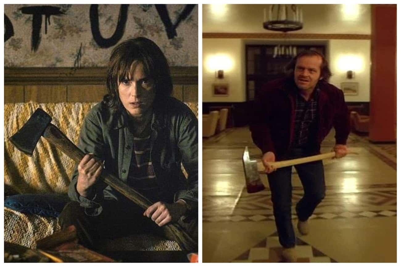 The Shining is listed (or ranked) 2 on the list All The Movie Callbacks In 'Stranger Things'