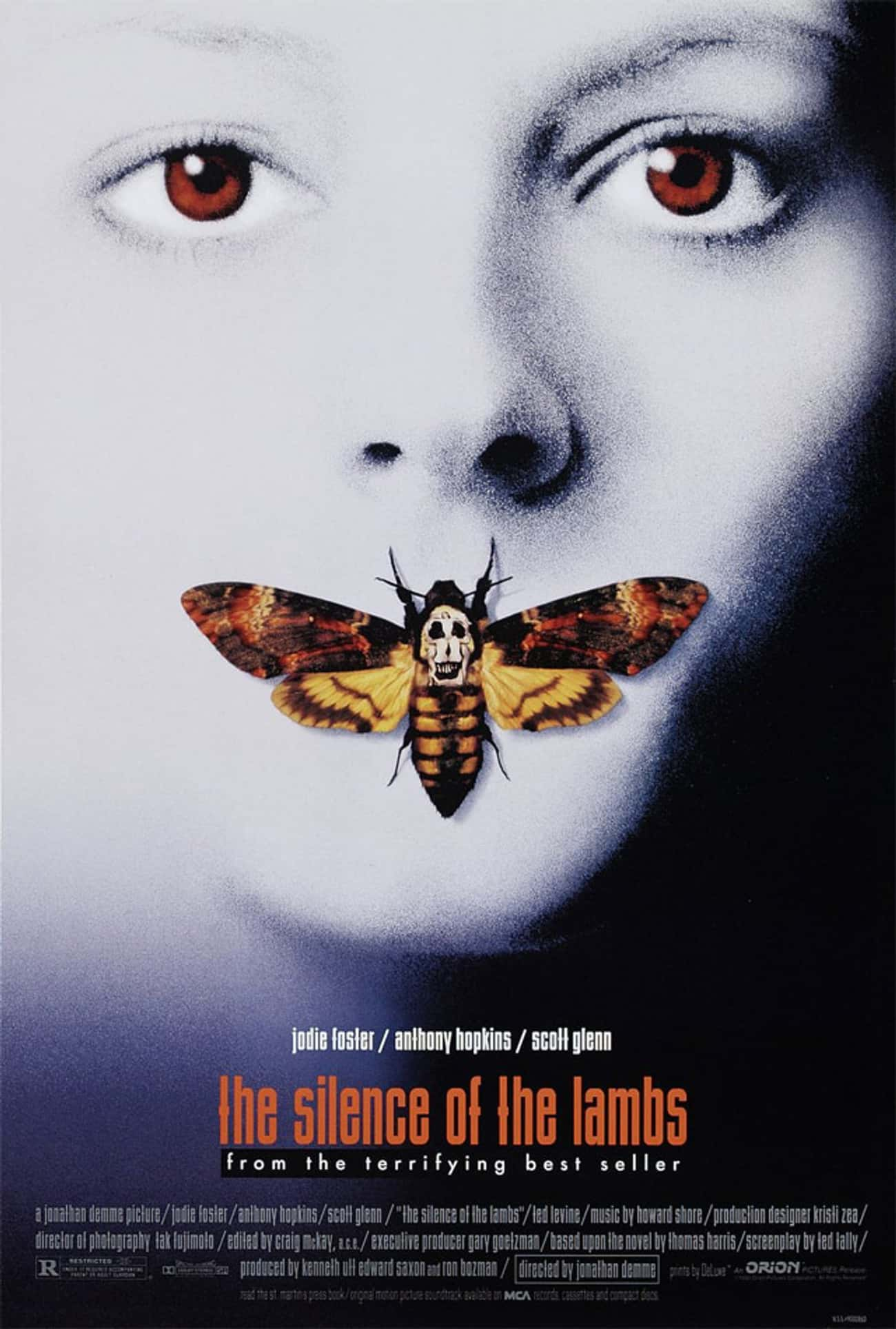 The Silence of the Lambs is listed (or ranked) 2 on the list The Most Terrifying Horror Movies That Are Based on Books