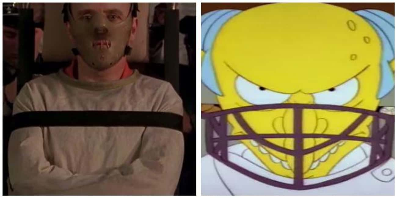 'The Silence Of The Lambs' - ' is listed (or ranked) 4 on the list 'Simpsons' Movie Parodies You Probably Missed As A Kid, Ranked