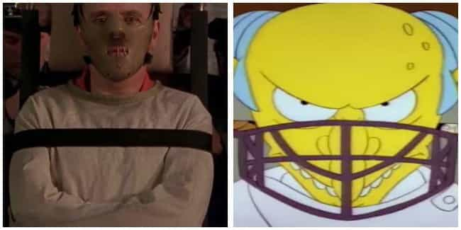 The Silence of the Lambs... is listed (or ranked) 4 on the list 'Simpsons' Movie Parodies You Probably Missed As A Kid, Ranked