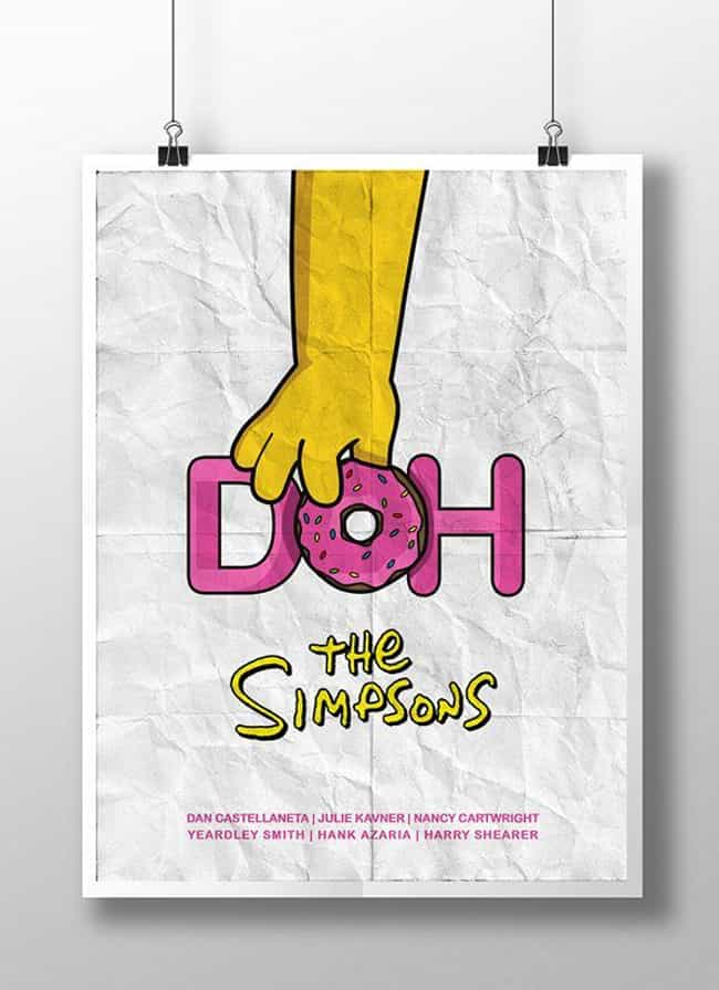 The Simpsons is listed (or ranked) 8 on the list Awesome Minimalist TV Posters That Reveal Less Is More