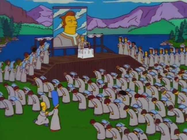 The Simpsons is listed (or ranked) 1 on the list Times Cults Shows Up On Shows You'd Never Expect To Have Cults