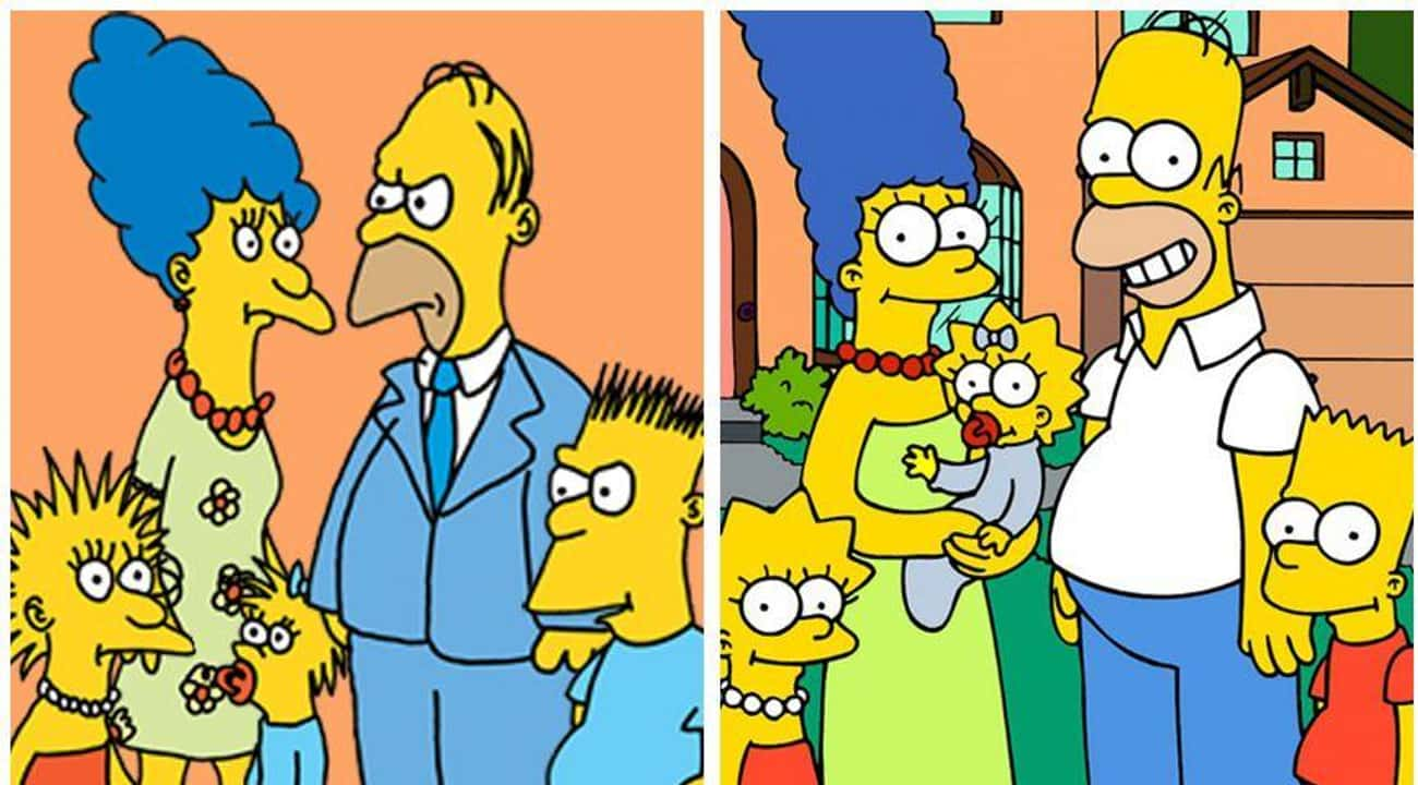 The Simpsons: 1987 & 2017 is listed (or ranked) 1 on the list 20 Iconic Cartoon Characters And Their Evolution Over Time