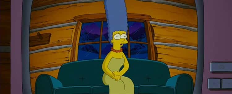When Marge Says Goodbye to Homer Via Video In 'The Simpsons Movie'