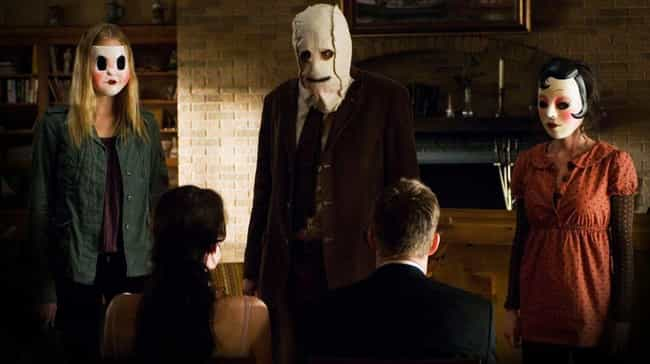 The Strangers is listed (or ranked) 4 on the list 23 Disturbing, Brutal Movies Based on Real-Life Atrocities