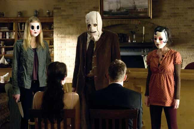"The Strangers is listed (or ranked) 4 on the list Are These Horror Movies Really ""Based On A True Story""? Truth Is, They're Reaching"
