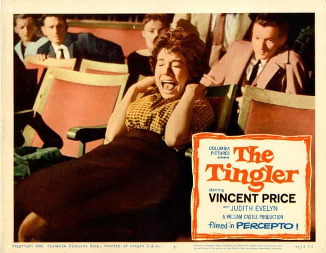 The Tingler is listed (or ranked) 4 on the list Disgusting DIY Special Effects That Have Been Used In B-Movies